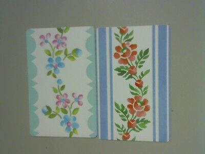 (2) Swap/Playing Cards - Pair Flowers on Vine