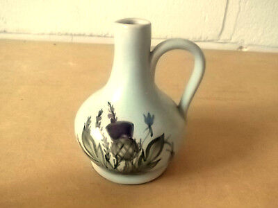 Buchan Stoneware  Oil / Vinegar Jug With A Thistle And Bluebell Pattern