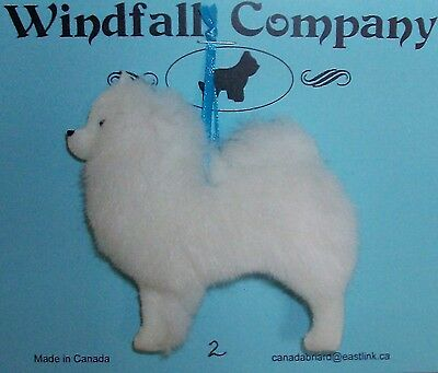 American Eskimo Dog Soft Plush Christmas Canine Ornament # 2 by WC