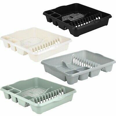 High Grade Extra Large Plastic Dish Drainer Plate and Cutlery Rack Holder