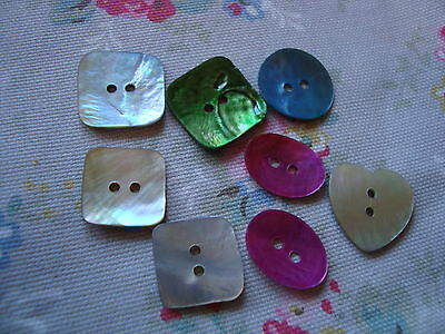 Mix  Colour Shape Mother of Pearl / Agoya Shell Buttons