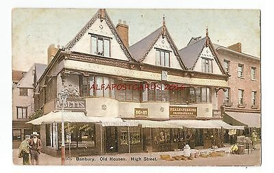 Oxfordshire Banbury High Street Old Houses Vintage Postcard 17.12