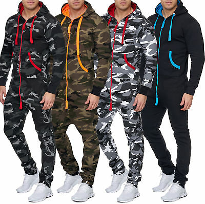 Jumpsuit Overall Trainingsanzug Army Camouflage Sportanzug