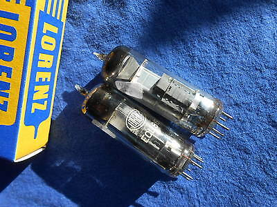 2 x  ECL 86    LORENZ    made in Germany   Radio Tube