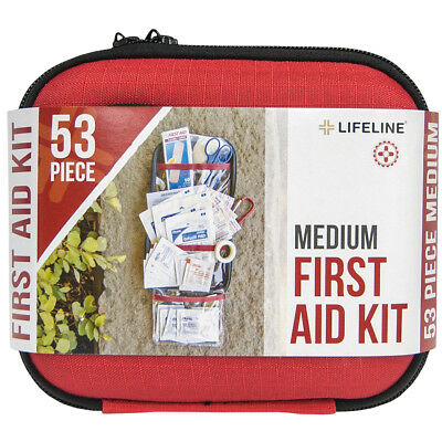 Lifeline Medium Hard-Shell Foam Case First Aid Kit - 53 Pieces