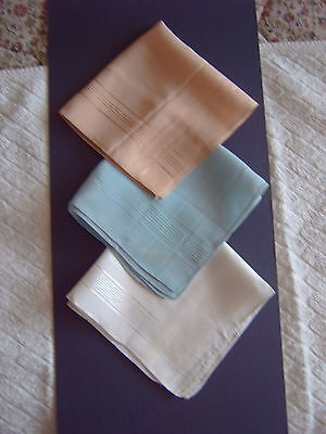 """ Vintage Handkerchiefs - Apricot Silk + 2 Others Similar - Self Coloured Border"