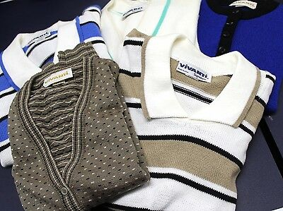 Vintage Vivanti Sweater Lot 5  M L Most NWT/ unworn Cotton Or Acrylic Womens