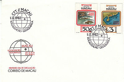 Macau-1982- Maps set of 2 on FDC,sg £10.50 as stamps