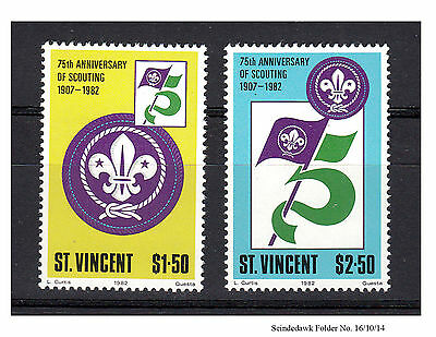 St. Vincent - 1982 - 75Th Anniversary Of Scouting - 2V Mint Nh
