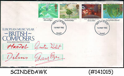 Great Britain - 1985 British Composers / Music - 4V - Fdc