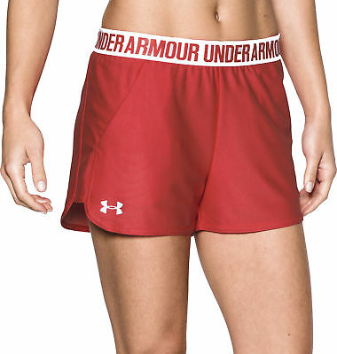 Under Armour Play Up 2.0 Ladies Running Shorts - Red