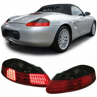 For Porsche Boxster 986 1996-2004 Red and Black LED Lexus Rear Tail Lights Pair