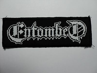 Entombed  Logo Woven  Patch
