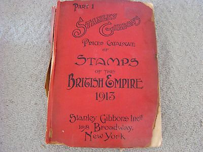 Vintage 1913 Stanley Gibbons Stamp Catalog of the British Empire