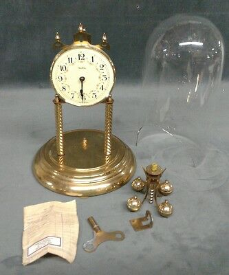 VINTAGE S.HALLER ANNIVERSARY CLOCK Simonswald Germany parts only