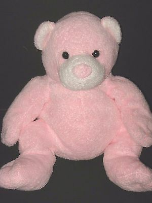 Ty Pluffies Baby Pink Pudder Bear Plush Beanie Stuffed Animal Toy 2003