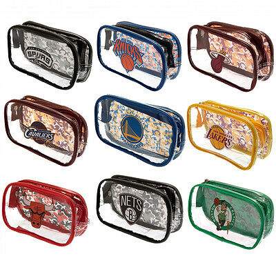Official NBA - Clear PENCIL CASE (Basketball Teams) Stationery/School/Gift