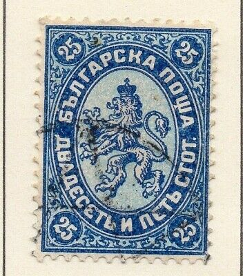 Bulgaria 1882-87 Early Issue Fine Used 25st. 124722