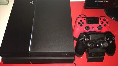 PS4 Console Slim 500GB With Two Controllers And Controller Stand