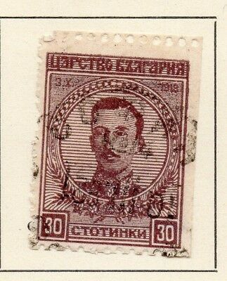 Bulgaria 1919 Early Issue Fine Used 30st. 124776