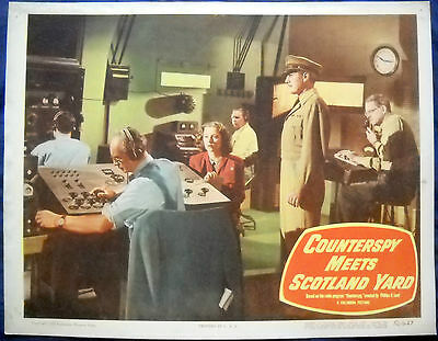 COUNTERSPY MEETS SCOTLAND YARD MOVIE POSTER- Lobby Card-1950