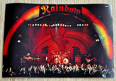 Deep Purple poster Rainbow Rising Ritchie Blackmore on stage in Munich RaRe