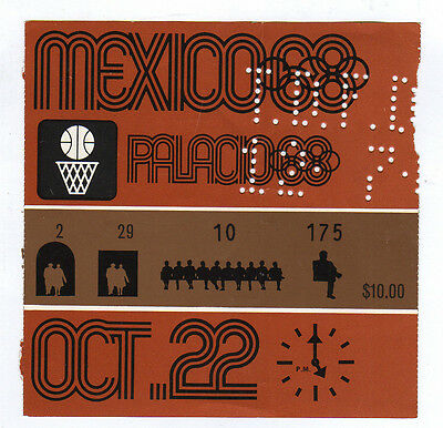 Orig.Ticket    Olympische Spiele MEXICO 1968 - Basketball   22.10.1968  !!   TOP