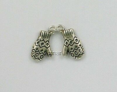 925 Sterling Silver Mittens Charm, Movable, Clothing & Accessories Theme
