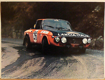 (Prl) Lancia Fulvia Hf Rally Sport Car Auto Vintage Affiche Art Print Poster