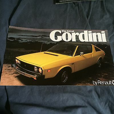 1977 Renault 17 Gordini USA Market Color Brochure Prospekt