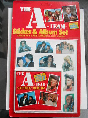 A-Team TV show rare vintage puffy stickers set with Album 1980s