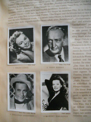 Film Movie Stars rare vintage complete card set in book from 1950s