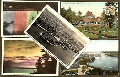 Lot of 5 ONTARIO postcards 1906 to 1955 ~ Ontario Town Cancels