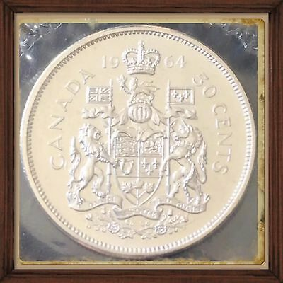 1964 Canada Silver 50 Cents  Proof Like PL-65 Sealed