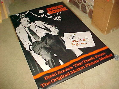 Davie Bowie Absolute Beginners #4 Huge Poster Scarce