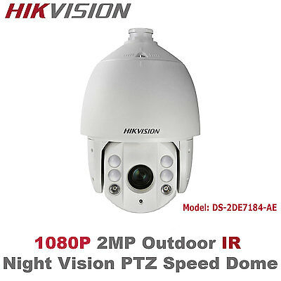 Hikvision USA -DS-2DE7184-AE 2MP 1080P Full HD Outdoor IR IP PTZ Speed Dome/PoE+