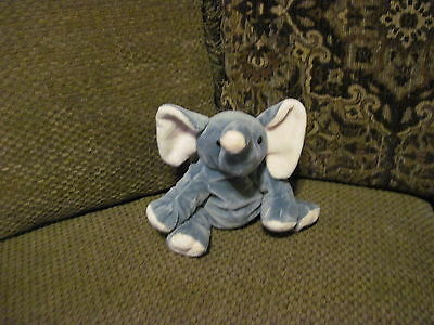 "Retired 2013 Ty Pluffies 9"" Gray & Pink ELEPHANT *"