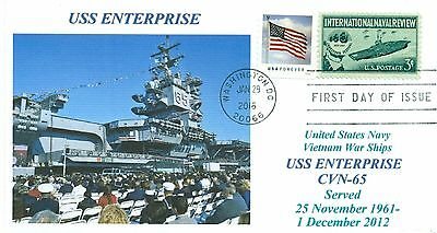 USS ENTERPRISE CVN-65 VIET NAM SHIPS 2012 Decommission Photo, First Day of Issue