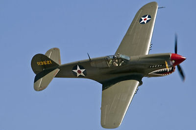 1/7 Scale American WW-II Curtiss P-40 Plans, Templates & Instruction