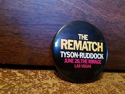 MIKE TYSON -Ruddock Rematch Pin Old Logo Faded