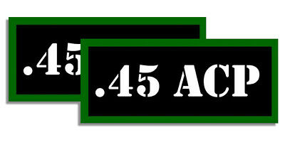 ".45 ACP Ammo Can Labels for Ammunition Case 3.5"" x 1.50"" stickers decals(2PACK)"
