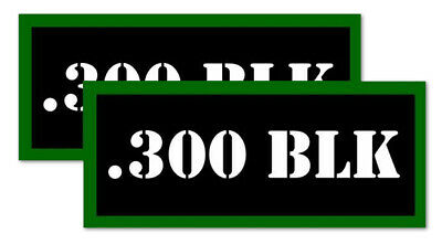 ".300 BLK Ammo Can Labels for Ammunition Case 3.5"" x 1.50"" stickers decals(2PACK)"