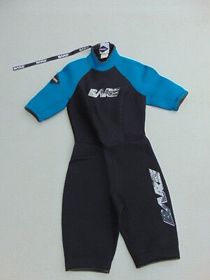 Wetsuit Ladies Size 9-10 NEW Bare Black Teal Neoprene 2-3 mm