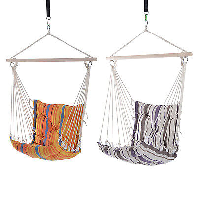Hammock Chair Hanging Swing Seat Rope Outdoor Indoor Porch Cotton Portable