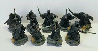 The Nine Ringwraiths Nazul Pro painted metal models LOTR The Hobbit Scarce OOP