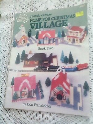 Home for Christmas Village Book 2 ~ Holiday Keepsakes plastic canvas patterns