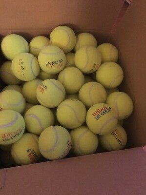 100 Very Good Indoor Used Tennis Balls-Gift For Your Dog! Wow! Dogs Luv Them��