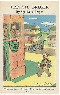 WWII Org 1940s PC- Private Breger- OCS- Selling LT Shoulder Bars- Jeep- Comic