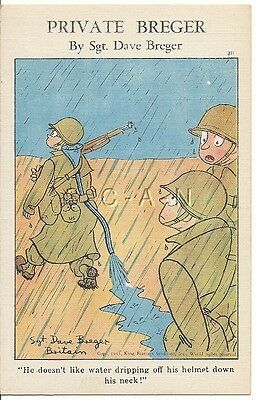 WWII Original 40s PC- Private Breger- Improvisation- Rain Poncho- Helmet- Comic