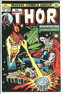 The Mighty Thor #232 Firelord Marvel 1974 Vf